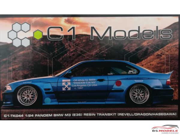 C1TK044 Pandem Widebody BMW E36  Transkit Resin Transkit