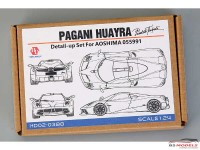 HD020388 Pagani Huayra Detail set (PE+resin+metal parts+logo) for AOS 055991 Multimedia Accessoires