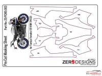 ZDPCMS003 Pre-Cut masking sheet for Yamaha YZF-R1M (TAM 14133) Multimedia Accessoires