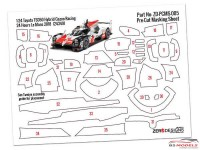 ZDPCMS005 Pre-Cut masking sheet Toyota TS050  Hybrid Gazoo Racing (TAM 24349) Multimedia Accessoires