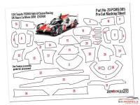 ZDPCMS005 Pre-Cut masking sheet Toyota TS050  Hybrid Gazoo Racing (TAM 24349) Multimedia Accessoires