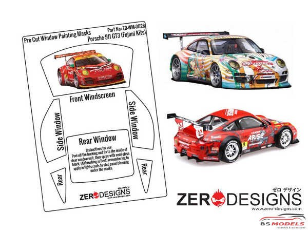 ZDWM0028 Porsche 911 GT3 Window painting masks (Fujimi) Multimedia Accessoires