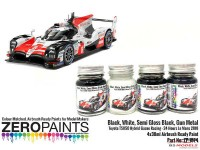 ZP1574 Toyota TS050  Hybrid Gazoo Racing  Paint set 4x 30ml Paint Material