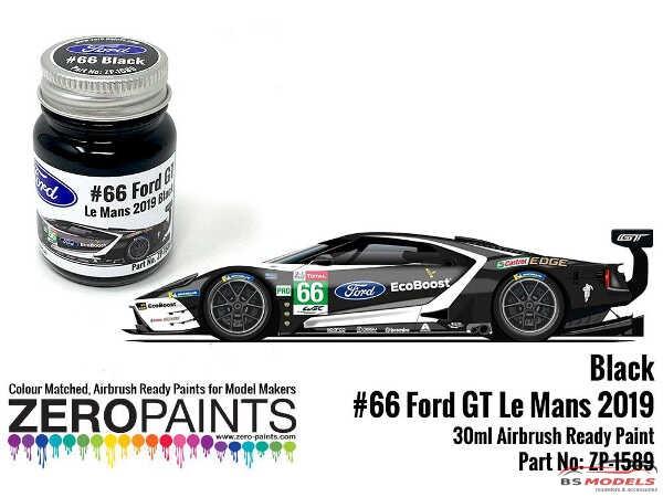 ZP1589 #66 Ford GT Le Mans Black Paint  30ml Paint Material