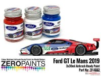 ZP1592 #68 Ford GT Le Mans Paint set 3 x 30ml Paint Material