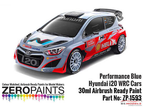 ZP1593 Hyundai i20 WRC Performance blue paint 30ml Paint Material