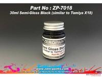 ZP7018 Semi-Gloss black - similar to X18  30ml Paint Material