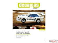 DCLDEC016 Audi Quattro Sport S1 Team E.G. Motorsport   Race of Champions 1990 Waterslide decal Decal