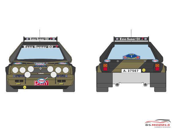 DCLDEC021 Lancia Delta S4 Grifone Esso Team  #1   Costa Brava Rally 1986 Waterslide decal Decal