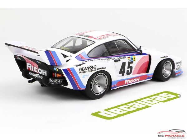 DCLDEC022 Porsche 935 K2 Team Ricoh Kremer  #45  24H Le Mans 1978 Waterslide decal Decal