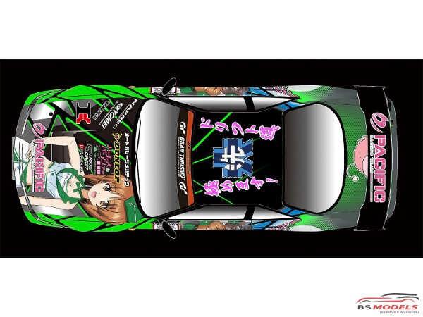 PLZGPR-2 Pacific Racing NAC  Girls & Panzer Nissan Silvia S14  D1 Grand Prix 2017 Plastic Kit
