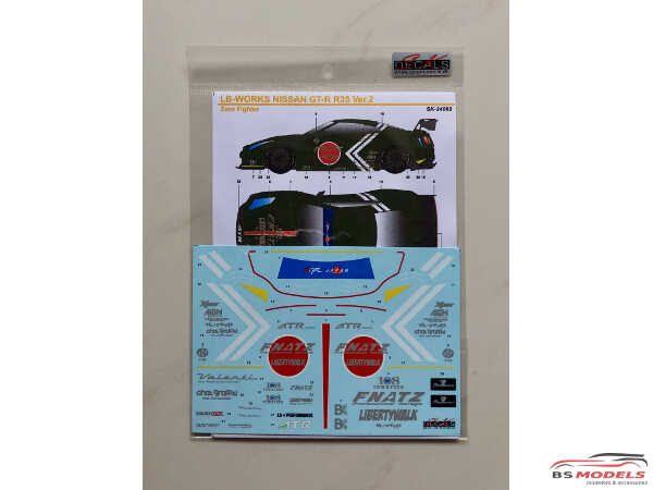 SK24092 LB-Works Nissan GT-R  R35 type 2  Zero Fighter style Waterslide decal Decal