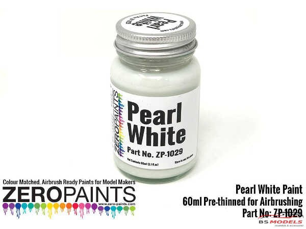 ZP1029 Pearl White paint 60 ml Paint Material