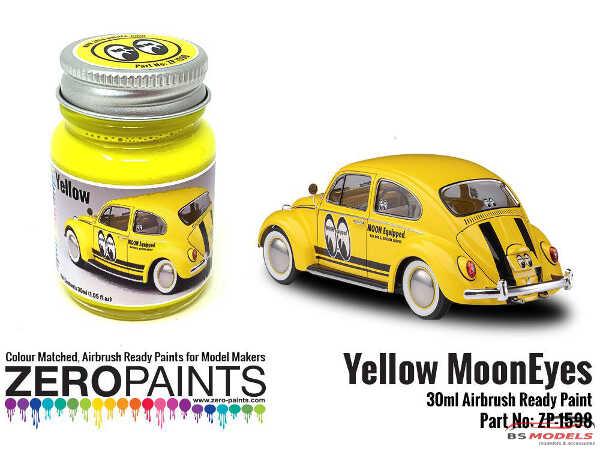 ZP1598 Mooneyes (Moon) Yellow paint 30 ml Paint Material