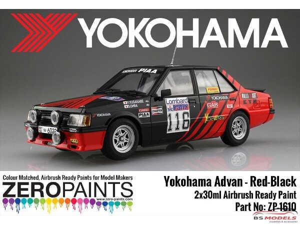 ZP1610 Yokohama Advan Sponsored Red and black paint set 2x30ml Paint Material