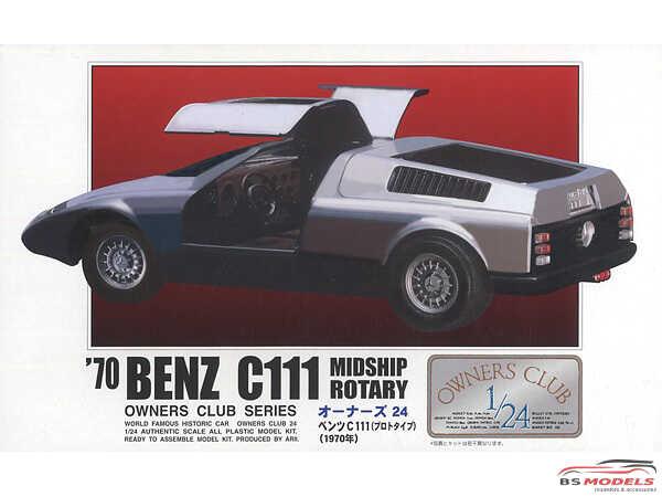 ARII20521 Mercedes Benz C111 Midship Rotary 1970 Plastic Kit