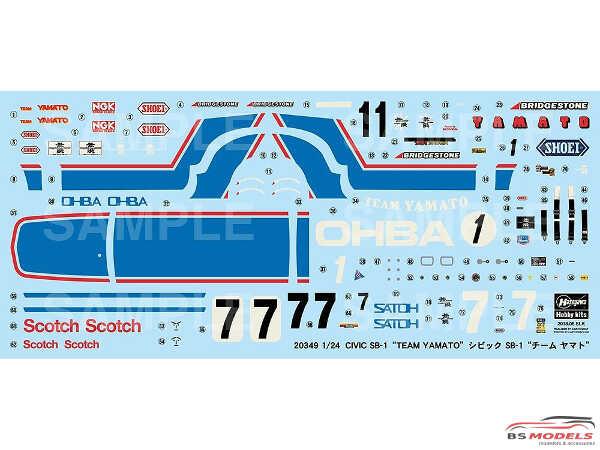 "HAS20349 Honda Civic SB-1 ""Team Yamato"" Plastic Kit"