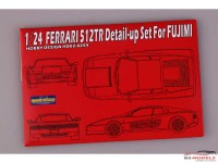 HD020254 Ferrari 512TR detail set for FUJ  (PE+resin) Multimedia Accessoires