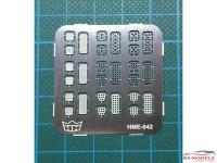 HME042 Pedal set 1 Etched metal Accessoires