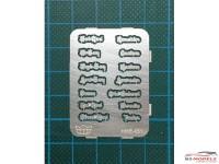 HME051 Chrome emblem set Etched metal Accessoires