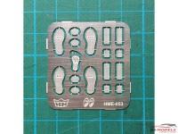 HME053 MOONEYES foot pedal set Etched metal Accessoires
