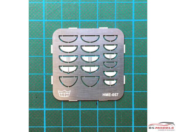 HME057 Headlight visor set Etched metal Accessoires