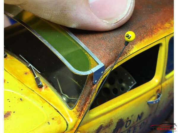 HME058 Sun visor for Beetle 2 Etched metal Accessoires