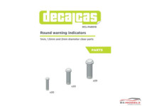 DCLPAR010 Round warning indicator  (clear resin)  50 pcs Resin Accessoires