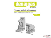 DCLPAR020 Toggle switch with guard   10 + 10 pcs Resin Accessoires
