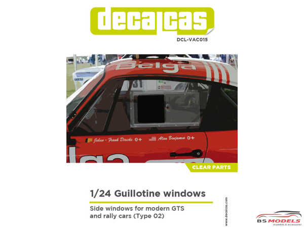 DCLVAC015 Guillotine windows for modern GTS and rally cars - type 2 Plastic Accessoires