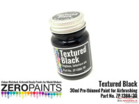 ZP1388-30 Black Textured Paint  30ml Paint Material