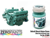 ZP1601 Detroit Diesel Alpine Green Paint 30ml Paint Material