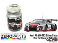 ZP1637 Audi R8 LM GT3 Silver Paint  30ml Paint Material