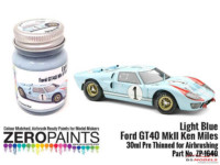 ZP1640 Ford GT40 Mk II Ken Miles Light Blue Paint 30ml Paint Material