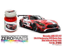 ZP1642 Mercedes AMG GT3 #17 24H Nurburgring 2019 Red Paint 30ml Paint Material