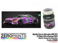 ZP1645 Mercedes AMG GT3 #71 24H Daytona 2019 Metallic grey Paint 30ml Paint Material
