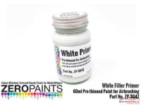 ZP3047 Airbrushing White Primer / Micro Filler  60ml Paint Material
