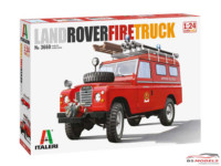 ITA3660S Land Rover Fire Truck Plastic Kit