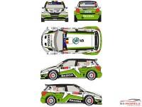 RD24011 Skoda Fabia S2000 #5 Rally Ypres 2013 Waterslide decal Decal