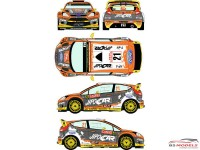 RD24020 Ford Fiesta WRC  #21  Rally Montecarlo 2015 Waterslide decal Decal