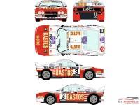 "RD24022 Lancia 037  ""Bastos""  #3   Rally van Haspengouw 1985 Waterslide decal Decal"