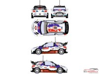 RD24024 Citroën DS3 WRC  #22 Rally Montecarlo 2013 Waterslide decal Decal