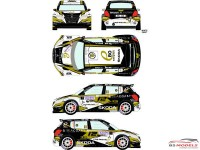 RD24025 Skoda Fabia #1 Rally Sezoens 2015 Waterslide decal Decal