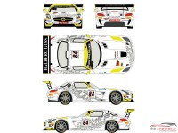 RDE24004 Mercedes SLS GT3  #84   Spa 24H 2013 Waterslide decal Decal