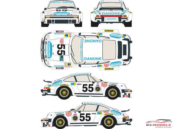 """RDEC24001 Porsche 934  #55  """"Danone""""  LM 1977 Waterslide decal Decal"""