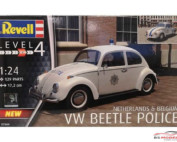 "REV07666 Volkswagen Beetle Police  Netherlands - Belgium ""Limited"" Plastic Kit"