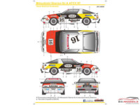 SK24099 Mitsubishi Starion Gr A ATTC '87  Team Ralliart Australia Waterslide decal Decal