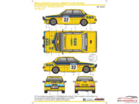 SK24101 Mitsubishi Lancer 2000 Turbo  Hong Kong - Beijing rally '85 #32 Waterslide decal Decal