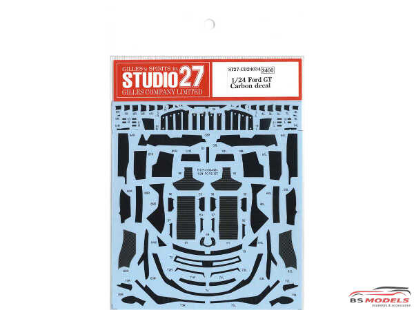 STU27CD24034 Ford GT carbon dress up decal Waterslide decal Decal