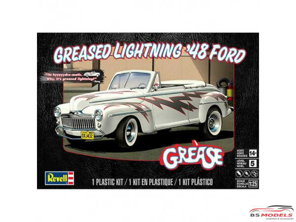 """REV14443 1948 Ford Conver """"Greased Lightning"""" Plastic Kit"""